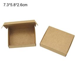 Craft Diy Christmas Gifts Australia - 50Pcs 7.3*5.8*2.6cm DIY Kraft Paper Box Gift Boxes For Wedding Favors Birthday Candy Cookies Christmas Jewelry Package Boxes Party Supplies