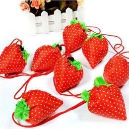 $enCountryForm.capitalKeyWord Australia - Wholesale- 1 Piece Eco Storage Handbag Strawberry Foldable Shopping Tote Reusable Bags Random Color