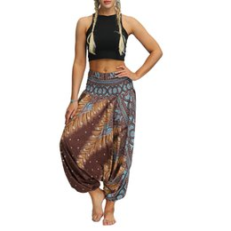$enCountryForm.capitalKeyWord Australia - harem pants Women Casual Loose Yoga Trousers Baggy Boho Aladdin Jumpsuit Pants sports wear for women gym pantalon sport femme