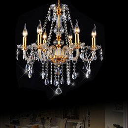 pipe trading NZ - Crystal chandelier living room dining room hotel project European living room bedroom trade candle crystal chandelier