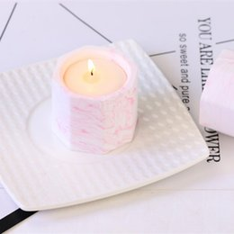 romantic music gifts UK - Octagonal Coconut Wax Unique Soy Wax Handmade Gifts Romantic Aromatherapy Candles Wedding Supplies