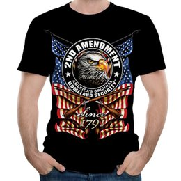boys summer skull t shirts 2019 - Men New T Shirt Independence day Skull 3D eagle cool Printed Plus Size S-3XL boys fashion summer loose casual tops camis