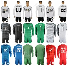 ba86c3b8639 Goalkeeper GK Germany Long Sleeve Soccer 22 TER STEGEN Jersey Set 1 Manuel  Neuer 12 TRAPP 1 Oliver Kahn Football Shirt Kits Uniform
