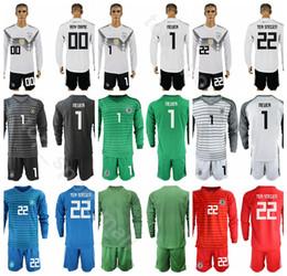 89c6a8207f0 Neuer Goalkeeper Soccer Jersey Australia - Goalkeeper GK Germany Long  Sleeve Soccer 22 TER STEGEN Jersey
