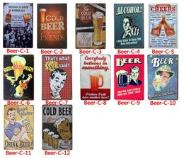 Discount vintage tin beer signs - Ice Cold Beer Tin Signs Route 66 Vintage Wall Art RetroTIN SIGN Old Wall Metal Painting ART Bar Man Cave Pub Restaurant
