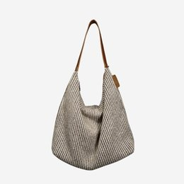 $enCountryForm.capitalKeyWord UK - Woven Shoulder Bag Women's Fashion Handbag 2019 New Ladies Portable Dumplings Bags Nylon Fabric Big Tote Bag For Ladies Black