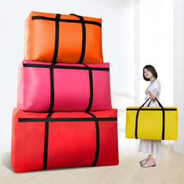 $enCountryForm.capitalKeyWord Australia - Large-capacity canvas moving house luggage clothes storage portable extra large men's travel bag quilt big