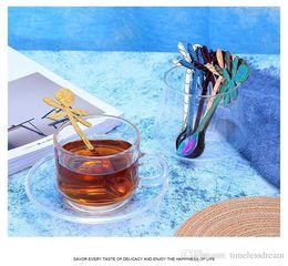 $enCountryForm.capitalKeyWord Australia - Colorful Dragonfly Spoon 304 Stainless Steel Coffee Spoon Teaspoon Hanging Cup Design Spoon Bar Cafe Hotel Kitchen Tableware