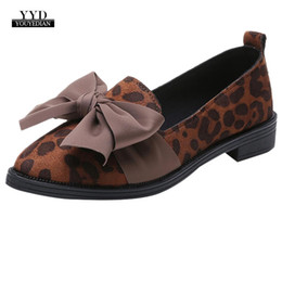 35a84f729 YOUYEDIAN Women Casual Shoes Pointed Toe Black Oxford Shoes Fashion leopard  bow Ballerina Ballet Flat Slip On #w40