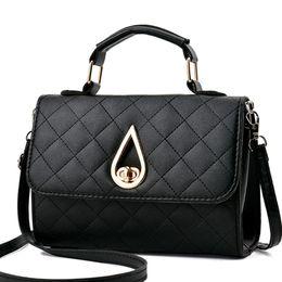 $enCountryForm.capitalKeyWord Canada - Women Handbag Leather Women's Shoulder Bag Female Crossbody Messenger Bag Plaid Drip Design Elegant High Quality Women Bags Flap