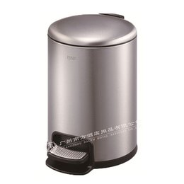 Steel Induction UK - Mattsilver round stainless steel pedal bin itouchless softstep trash can, 3 liter foot bathroom trash can