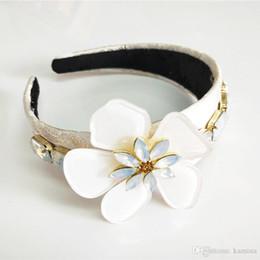 Crystal Headbands Australia - New Limited Edition Baroque Multicolor Flowers Crown Handmade Tiara Crystal Wide Headbands Wedding Hair Jewelry Gift For Women