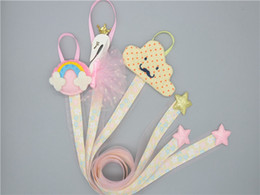 Finish bands online shopping - 13 styles Korean baby hair accessories storage band strips girls hairpin finishing head rainbow sequin cartoon headdress hanging strip