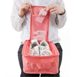 Storage Packs Australia - Waterproof Shoes Storage Bag Organizer Storage Pouch Pocket Packing Cubes Handle Nylon Zipper Bag for Travel Outdoor