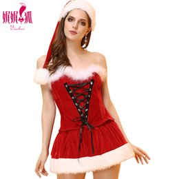 Christmas santa lingerie online shopping - New Arrive Sexy Christmas Costume Women Masquerade Party Cosplay Dress Role Playing Clothing Sexy Lingerie Gift EH506