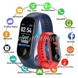 smart health pulse watch Australia - Hot M3 Smart Bracelet smart watch Heart Rate Monitor bluetooth Smartband Health Fitness Smart Band for Android iOS activity tracker colorful