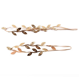 $enCountryForm.capitalKeyWord Australia - 1 Pair Elegant Tiara Gold Leaves Hair Bands Mother & Kids Hair Band Bridal Alloy Trendy Jewelry Accessories