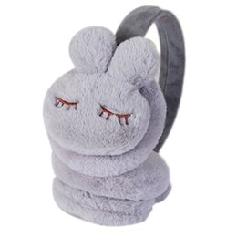 pink earmuffs UK - Kids Winter Warm Earmuffs Thicken Plush Cute Cartoon Ear Cover Warmers F3MD