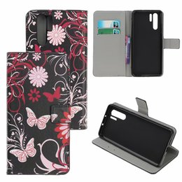 Smart Card Printing Australia - Printing Flower Patterns Wallel Flip PU Leather Protector Phone Case For Huawei P30 Pro Honor 10 lITE P Smart 2019 Nova 4
