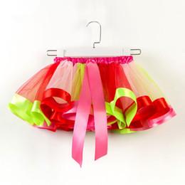 $enCountryForm.capitalKeyWord Australia - Ballet kilt 14 Colors Baby Girls Tutus Rainbow Color Girl Tutu Skirts With Bow kids Mesh Cake Layer Performa Dresses EEA341