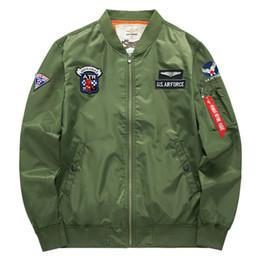 Army Motorcycle Jackets Australia - New Fashion Top Ma1 Thin Spring Autumn Army Green Motorcycle Ma-1 Flight Jacket Pilot Men Bomber Jacket,8902
