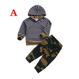 e3473055eb0 2PCS Toddler Kid Baby Boys Girls 2019 T-shirt Hoodies Striped Top+Camo  Pants Outfits Casual Clothes Autumn Camouflage Set