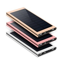 solar external battery power bank NZ - For Xiaomi iphone 7 2 8 Samsung Solar Power Bank 30000mah External Battery USB LED Powerbank Portable Solar Mobile phone charger