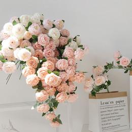 $enCountryForm.capitalKeyWord Australia - beautiful rose peony artificial silk flowers small bud wedding bouquet for home decoration long fake flowers outdoor backdrop