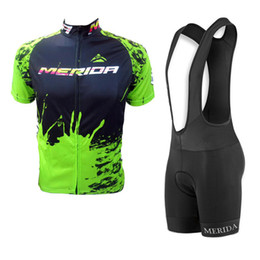 Chinese  2019 merida team Cycling Jersey suit MTB bike shirt bib shorts set Bicicleta Maillot Men Cycling Clothes Racing Bicycle sportswear Y032706 manufacturers