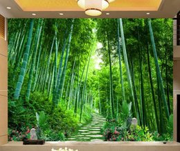 house forest painting Australia - Custoallpapm 3D Photo Wer Star Universe Galaxy Room Bamboo forest quiet flower smal Wall Painting Living Room Bedroom Wallpaper Home Decor