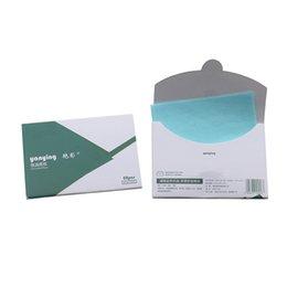 Facial Tissue 50pcs / box Blotting facciale fogli Oil Absorbing Paper Face Control Oil trucco della pelle strumento di cura 10c x 7,2 centimetri in Offerta