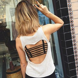 Party tank toPs online shopping - Sexy Womens Padded Bra Backless Hollow Out Crop Tops Out Padded Bra Bralette Beach Cotton Party Vest Tank Tops