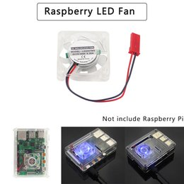 blue cooling fan Canada - omputer & Office LED Backlight Cooling Fan for Raspberry Pi Heat Dissipation Radiator with 2 Blue Built-in Atmosphere LED for Raspberry P...