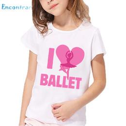 $enCountryForm.capitalKeyWord Australia - Children I Love Ballet Printed T shirt Kids Dancing Girl Design Short Sleeve Summer Tops Baby Girls Casual Clothes,HKP5191
