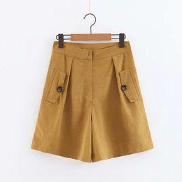 23 Patch Australia - 2019 women vintage solid color pocket patch Bermuda Shorts ladies zipper fly casual hot chic pants pantalones cortos