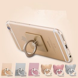 Wholesale Finger Ring Mobile Phone Ring Holder Bracket Metal Lazy Ring Buckle Mobile Phone Bracket Degree Stand Holder For All mobile phone tablet