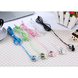 Mobile K NZ - New Bass K song gift pearl line in-ear headphones with Meco call mobile phone headset