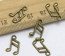 $enCountryForm.capitalKeyWord Australia - Antique Bronze Note Charm Music Pendants For Handmade DIY Bracelet Necklace Fashion Jewelry Alloy Making Gifts Accessories 100PCS