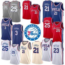 15d2b8f78c3 19 20 Cheap Mens Basketball Jerseys Kids Philadelphia Allen Iverson 76ers  Joel Embiid Youth College Jerseys Ben Simmons New