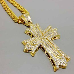 $enCountryForm.capitalKeyWord Australia - Special Offer Classic Designer Necklace Fashion Hip Hop Women Mens Necklace Cross Religious Pendant Necklace Rhinestone Jewelry
