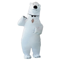 $enCountryForm.capitalKeyWord Australia - Party Adult Inflatable White Bear Costume Halloween Costumes for Men Women Fantasy Blowup T-rex Mascot Cosplay Boy Girl Dress Up 2019 Hot