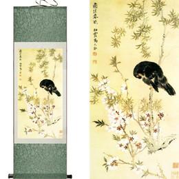 $enCountryForm.capitalKeyWord Australia - Spring Birds And Flowers Art Painting Scroll Art Painting Chinese Painting Landscape Art Paintingprinted Painting2019061417