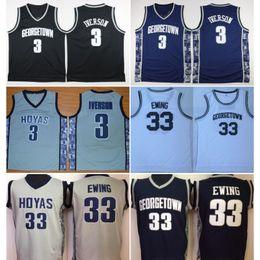 $enCountryForm.capitalKeyWord Australia - Vintage Georgetown Hoyas Allen Iverson #3 College Basketball Jerseys Patrick Ewing 33 Allen Iverson Green Bethel High School Stitched Shirts