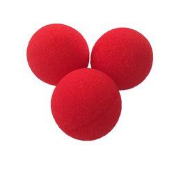 $enCountryForm.capitalKeyWord Australia - 16Pcs 4.5cm Super Soft Sponge Red Balls Close-Up Magic Street Party Trick Prop Blanket