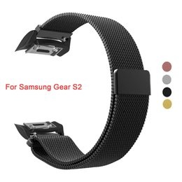 banded gear Australia - Milanese Loop Strap for Gear S2 Gear S2 SM-R720   SM-R730 Smart Watch Stainless Steel Magnetic Closure Clasp Sports Band