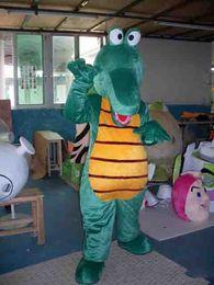 CroCodile Costumes online shopping - Adult Size Cartoon Crocodile Mascot Costume Cool Green crocodile Outfit Halloween Chirastmas Party Fancy Dress Custom made1