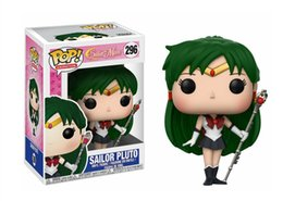 halloween sailor moon Australia - FUNKO POP Animation Sailor Moon Sailor Pluto #296 Vinyl Action Figure With Box Toy Gift Doll Good Quality