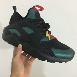 Discount huarache army green - Men Athletic Huarache IV 4.0 Triple Black  Ultra Running Shoes Women d1c77e4e3