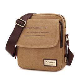 Cotton Canvas messenger men online shopping - 2018 New Men Messenger Bag Canvas Vintage Shoulder Bags High Quality Casual Fashion Small Mens Bags
