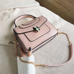 Head leatHer bag online shopping - Luxury handbags women bags snake head bag leather chain bag women famous brands bags for High Quality PU Leather